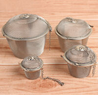 Practical Tea Ball Spice Strainer Mesh Infuser Filter Stainless Steel Herbal