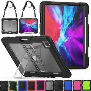 """For Apple iPad Pro 11"""" 12.9"""" 2nd 4th Gen 2020 Hard Armour Case Stand Strap Cover"""