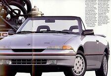 "1991 - MERCURY ""Capri"" / ""Capri XR2"" Convertible - USA sales brochure, prospekte"