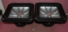 Lot of 2 Kicker Car Audio Solobaric S12L5 Dual 2 Omh Speakers.