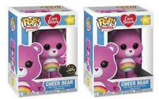 Funko Pop! Care Bears: Cheer Bear #351 Set of 2 W/ CHASE and Box Protector