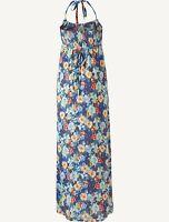 Fat Face - Women's - Hollywell Watercolour Maxi Dress - Blue - Size 14 - BNWT