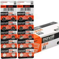 20 NEW LR44 MAXELL A76 L1154 AG13 357 SR44 303 BATTERY FREE SHIPPING