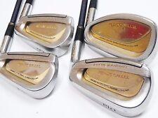Ladies Gold MARUMAN TITUS X-2 4pc L-Flex IRONS SET Golf Clubs inv 727