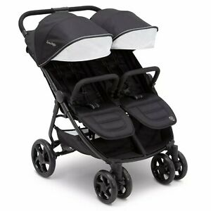 Double Baby Stroller Ultralight Side by Side Carriage Infants Toddlers Kids