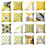 YELLOW GEOMETRIC HOME DECORATIVE THROW SQUARE PILLOW CASE CUSHION COVER SMART