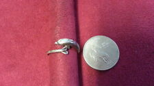 Ring 925 Sterling Silver *Size 7*F513 Beautiful Cute Dolphin Fish Wrap Band