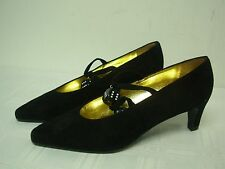 MOSCHINO BLACK SUEDE with POKER DICE!! WOMENS HIGH HEEL PUMPS SHOES SIZE 6 NEW!!