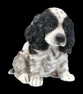 Hunde Figur - Cocker Spaniel Welpe - Niedlicher Hundewelpe Hündchen Deko