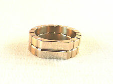 Dyrberg/Kern Steele lll Brushed Collection Silver Plated Stainless Steel Ring