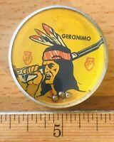 """Vintage 1950s NABISCO Shredded Wheat JUNIORS Cereal Toy Game GERONIMO 1-3/8"""""""