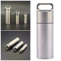 EDC Outdoor Survival Waterproof Capsule Seal Case Bottle Tool Box Container M3W9