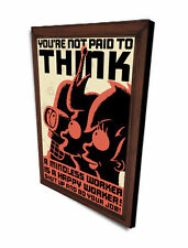 Futurama, you`re not paid to THINK, Retro Sign, Wooden Plaque