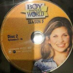 Boy Meets World Season 5 Disc 2 Episodes 9-16 region 1 DVD (DISC ONLY, NO COVER)