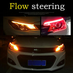30/45/60cm LED DRL Daytime Running Lamp Strip Light Sequential FlowTurn Signal