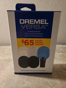 New Dremel Versa Accessory Kit  15 Assorted Pads plus Corner Brush +Bag.  092