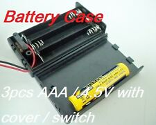 Battery Box Holder Batteries Case for 3 packs AAA, 3A  4.5V with Cover / Switch