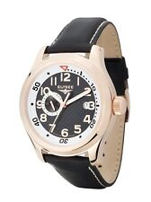 New Mens Elysee 28421 Automatic  Prometheus Black Leather Strap Watch