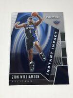 2019-20 Panini Prizm Instant Impact Insert #2 Zion Williamson Pelicans