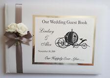 DISNEY CINDERELLA PERSONALISED WEDDING GUEST BOOK (SILVER)