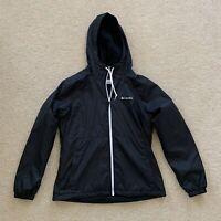 NWOT Columbia Softshell Fleece Lined Jacket Womens Size Medium Black Hooded