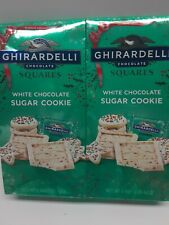 (2Bags) 4.8 oz each Of Ghiradelli White Chocolate Sugar Cookie