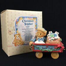 New Vtg Enesco Cherished Teddies Figurine Tony Mail Car 219487 Christmas 1996
