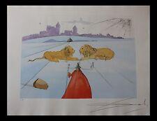 Salvador Dali Judah 72-6 (C) Twelve Tribes Original Etchings COA by Frank Hunter