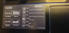 "Gaming Laptop MSi GE60 15,6""Z Intel i7 4700MQ 8x2.4GHz NVIDIA,8GB RAM 120 GB SSD"