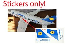 Custom Lufthansa Stickers for 3182 Passenger Plane Airport 3181 for LEGO 7893
