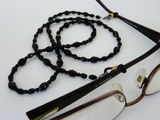 Black Bead Glasses Cord for Eye Wear includes spare replacement ends!