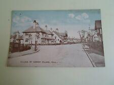 HULL, VILLAGE ROAD GARDEN VILLAGE  Philco Series No. 4757 Vintage Postcard §E572