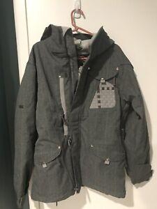 686 Ski/Snowboard Jacket Gray Men's Size Small