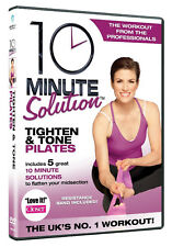 10 MINUTE SOLUTION TIGHTEN AND TONE PILATES WITH RESISTENCE BAND DVD UK REL NEW
