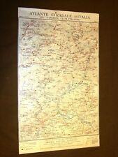 Carta geografica mappa Belluno Cortina Bassano Agordo Touring Club Italiano 1922