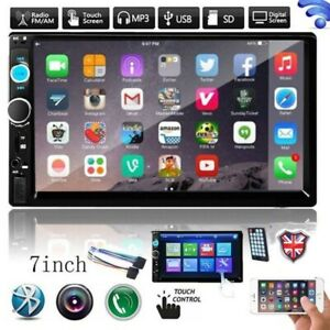 "Bluetooth Car Radio Stereo 7"" Double 2DIN BLU FM USB MP5 Player Touch Screen TF"