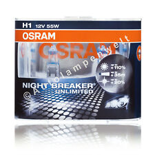 Osram H1 Night Breaker Unlimited Halogen +110% DuoPack ( 2 Stück Glühlampen )