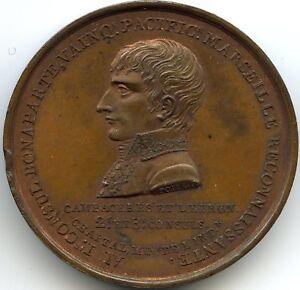 Consulate Napoleon Bonaparte Medal Column Napoleon To Marseille 1802
