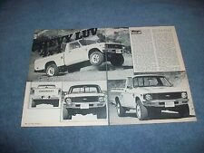 1979 Chevy Luv Pickup 4x4 Vintage Road Test Info Article