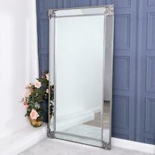 Large Silver Mirror Full Length Wall Ornate Glass Bedroom Hallway 180cm x 94cm