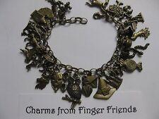 Harry Potter inspired fantastic 29 charm bracelet good for card & scrapbooking