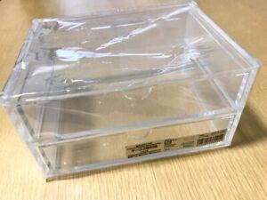 New Muji Acrylic case 2 Multipurpose Drawer Organizer Box Japan