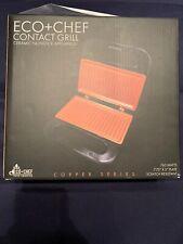 Eco + Chef Contact Grill, 760W, Copper Series, Ceramic Nonstick Appliances