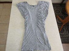 Women's BARDOT Size 6 AU Mini Dress Grey VGCon Frilly Stretchy Short Viscose