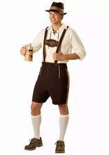 Mens German Man Bavarian Fancy Dress Costume laderhosen Beer Festival 055 M--XXL
