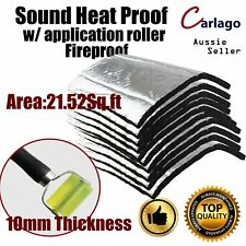 21Sq.ft Car Foam 10mm Heat Barrier Performance Sound Deadener W/ Deadener Wheel