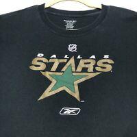 Dallas Stars Hockey NHL Reebok Adult Graphic T Shirt Short Sleeves XL Spellout