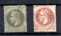 France 1863-70 1c & 2c Napoleon good used WS16733