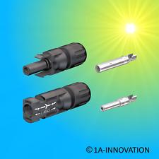 20 Paare MC4 Solarstecker Stecker 2.5-6mm² Wasserdicht Kabel Buchse Kupplung RR