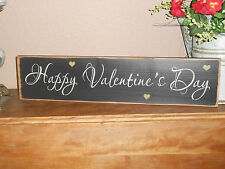 HAPPY VALENTINES DAY    wood sign primitive